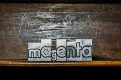 Magenta fait avec les types métalliques Image libre de droits
