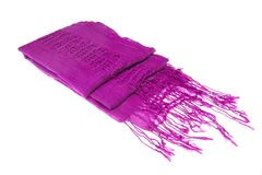 Magenta Female Knitted Scarf Royalty Free Stock Photo
