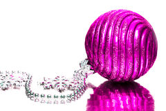 Magenta festive decoration Stock Photography