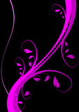 Magenta Floral Background Royalty Free Stock Photos