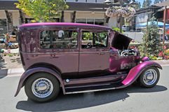 Magenta Ford Sedan Royalty Free Stock Photos