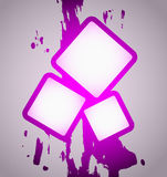 Magenta frame art Royalty Free Stock Image