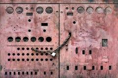 Magenta Grungy Metal Doors Stock Photos