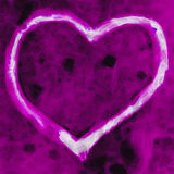 Magenta Heart Royalty Free Stock Images