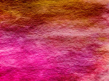 Magenta Hot Pink Yellow Umbre Watercolor Wash Background Texture Royalty Free Stock Image