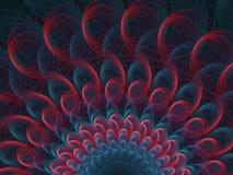 Magenta i Błękitnego Pinwheel płomienia Dymiący Fractal ilustracja wektor