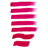 Magenta ink brush strokes Royalty Free Stock Image