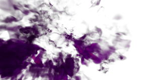 Magenta Ink in water move in slow motion with alpha mask. VFX Cloud of Ink or smoke for transitions, background, overlay stock video