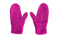Magenta mittens Royalty Free Stock Photography