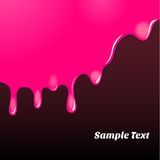 Magenta oil paint pattern Stock Photography