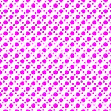 Magenta On White Two Different Sized Polka Dots In Lines Seamless Repeat Pattern Background Stock Photos
