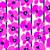 Magenta orchids seamless Royalty Free Stock Photos