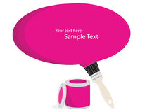 Magenta paint with text bubble Stock Photo
