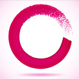Magenta paintbrush circle  frame Stock Photo