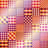 Magenta patchwork. Stock Photo