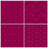 Magenta patterns set Royalty Free Stock Photos
