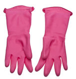 Magenta Pink Cleaning Gloves Royalty Free Stock Photo