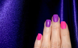 Magenta pink manicure Royalty Free Stock Photography