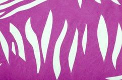 Magenta pink and white zebra pattern. Stock Photo