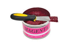 Magenta Printing Ink Royalty Free Stock Images