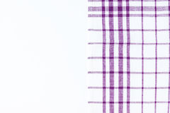Magenta, purple cloth, kitchen towel with checkered pattern, iso Stock Photo