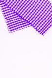 Magenta, purpurowy płótno, kuchenny ręcznik z w kratkę wzorem, iso Obrazy Stock