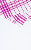 Magenta, purpurowy płótno, kuchenny ręcznik z w kratkę wzorem, iso Zdjęcia Stock