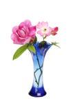 Magenta roses in a vase Stock Photo