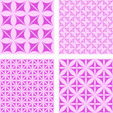 Magenta seamless background set. Magenta seamless curved pattern background set Stock Image