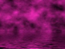 Magenta Sky & Water Stock Photo