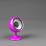 Magenta speaker on pedestal Royalty Free Stock Images