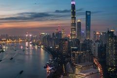Magenta Sunsetï ¼ ŒShanghai Royalty-vrije Stock Afbeeldingen