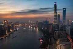Magenta Sunsetï ¼ ŒShanghai stock afbeeldingen