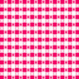 Magenta Tablecloth Seamless Pattern. Tablecloth check pattern in magenta and white for picnics, kitchens, napkins, curtains, home decorating, arts, crafts Stock Photography
