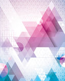 Magenta Triangles. Retro 80s geometric background. Just add text for a super cool poster Royalty Free Stock Photo