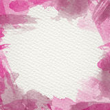 Magenta Water Color Frame. Frame from  watercolor stains on white paper Stock Photography
