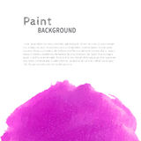 Magenta watercolor paint background Royalty Free Stock Photo