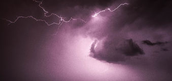 Magenta web and cloud lightning Royalty Free Stock Photo