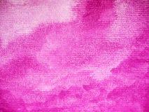 Magentafärgad teckning för hand för målning för färgbakgrundsvattenfärg på papper stock illustrationer