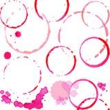 Magentafärgad vattenfärgfärgstänkuppsättning Royaltyfri Bild