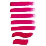 Magentafärgade färgpulverborsteslaglängder Stock Illustrationer