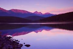 magentafärgade skies Fotografering för Bildbyråer