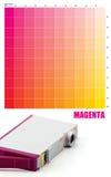 MAGENTAROTE Tintenfarbe Lizenzfreie Stockbilder