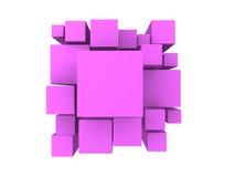 magentaroter abstrakter Hintergrund 3d Lizenzfreies Stockfoto