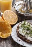 Mager frukost för sund vårsommar Arkivbild