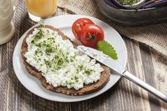 Mager frukost för sund vårsommar Arkivbilder