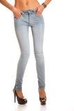 Mager jeans Fotografering för Bildbyråer