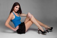 mager modemodell Fotografering för Bildbyråer