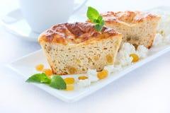 Mager pudding med keso Royaltyfria Bilder
