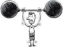 mager strongman Arkivbild